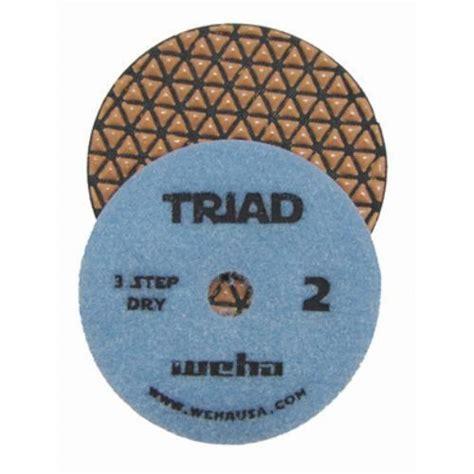 3 Step Polishing Pads Granite by 3 Step Marble Polishing Pad 4 Quot Weha Triad