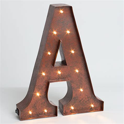 metal letters lone elm studios lighted metal letter 12 inch 92669a