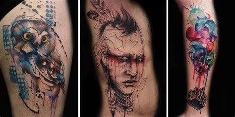 tattoo artist creates impressive freehand tattoos on the
