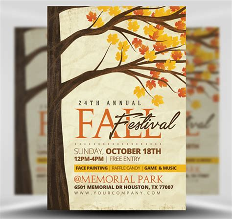 Rustic Flyer Template Rustic Fall Flyer Template Flyerheroes