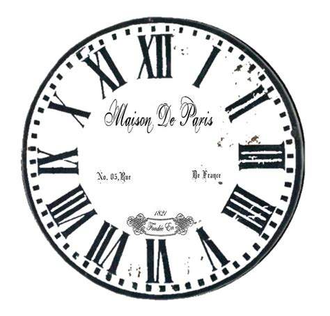 printable paper clock face 225 best images about clock illustration on pinterest