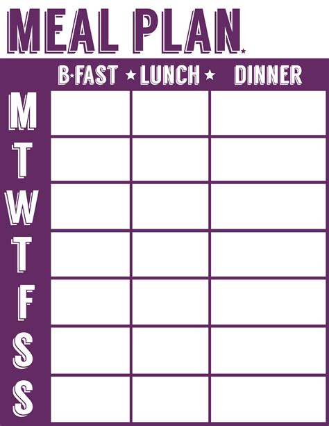 easy printable meal planner free printable menu planner shopping list inventory sheets