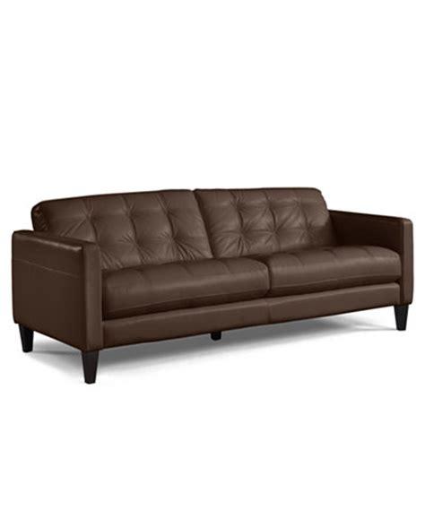 Milan Leather Sofa Furniture Macy S Milan Leather Sofa