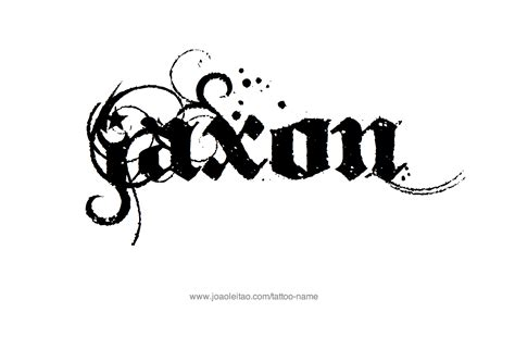 Jaxon Name Tattoo Ideas | jaxon name tattoo designs
