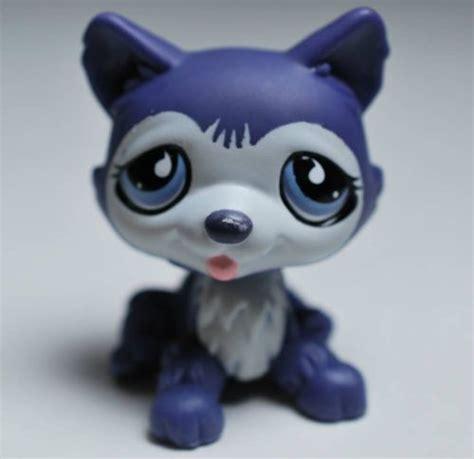 lps husky puppy littlest pet shop lps husky 785 blue purple figure puppy htf what s