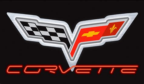 c6 corvette white neon sign chevymall