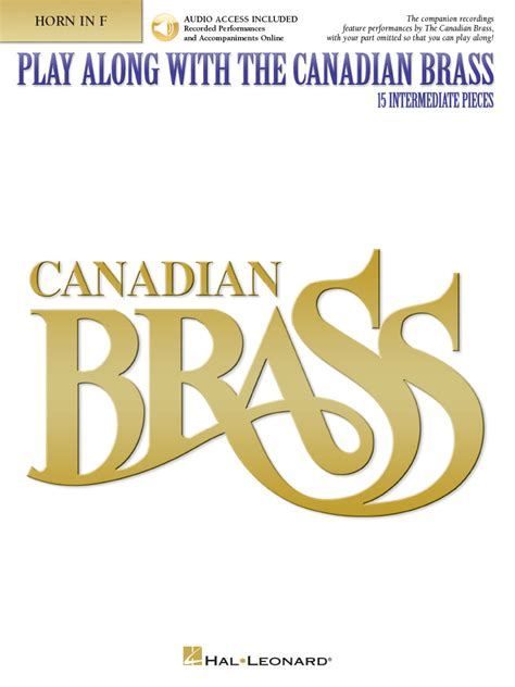 Martin Wide Aida Product Code Bwadd1 play along with the canadian brass horn book audio book audio horn