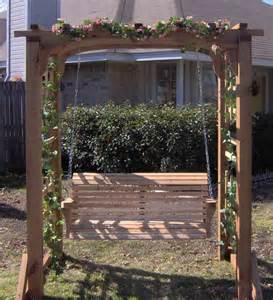 garden arbor swing new cedar garden arbor amp 5 ft porch swing pergola with
