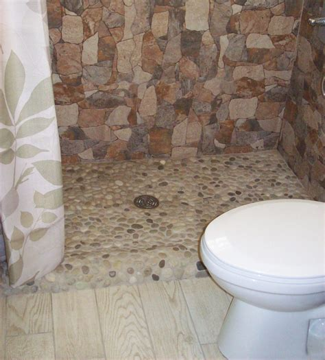 Tiled Shower Pan by Java Pebble Tile Shower Pan Pebble Tile Shop