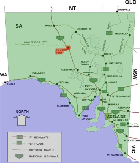 south australia map coober pedy south australia simple