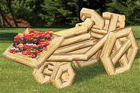 Landscape Timbers Tsc Wooden Tractor Flower Planter Plans Pdf Plans
