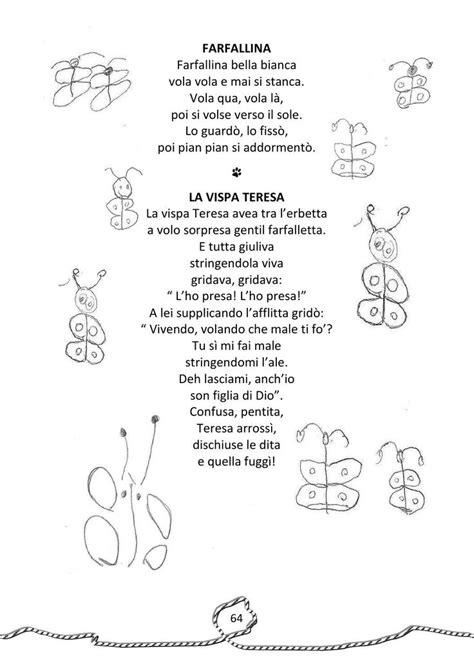 Cincin Proitali 416 best images about scuola filastrocche e poesie on learning italian and