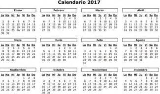 Nigeria Calendrier 2018 Festivos Puentes Y Macropuentes De 2017 Calendario