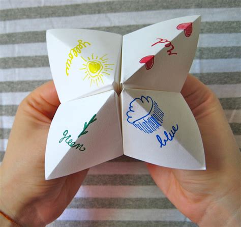 Folding Paper Fortune Tellers - on my honor fortune favors the crafty
