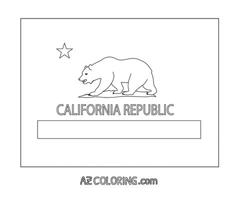 california state flag coloring page coloring home