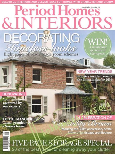 period homes and interiors magazine period homes interiors january 2016 187 hobby magazines
