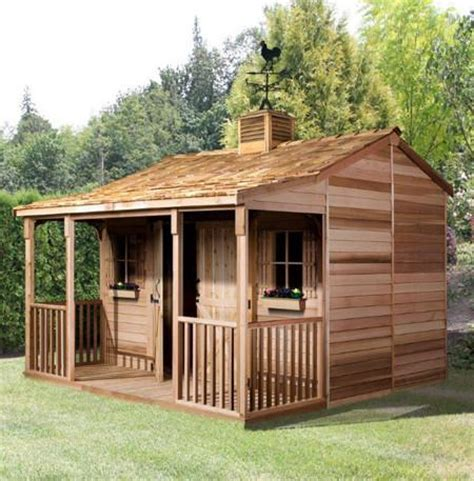 Garden Shed with Porch, Backyard Shed Living Space   Cedarshed Canada