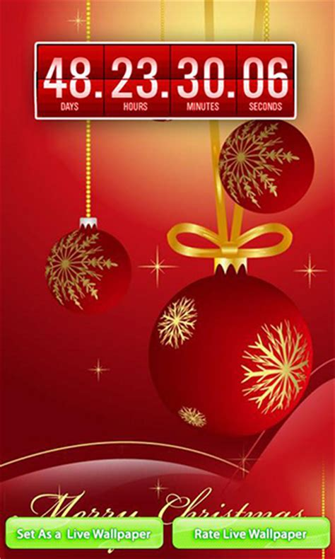 wallpaper christmas countdown christmas countdown live wallpaper for android christmas