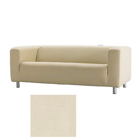 ikea klippan sofa slipcover cover alme natural beige cotton