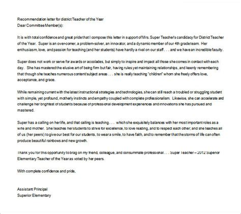 letter of recommendation for a teaching job sample letter of