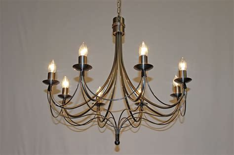Iron Candle Chandelier The Casterton 8 Arm Wrought Iron Candle Chandelier