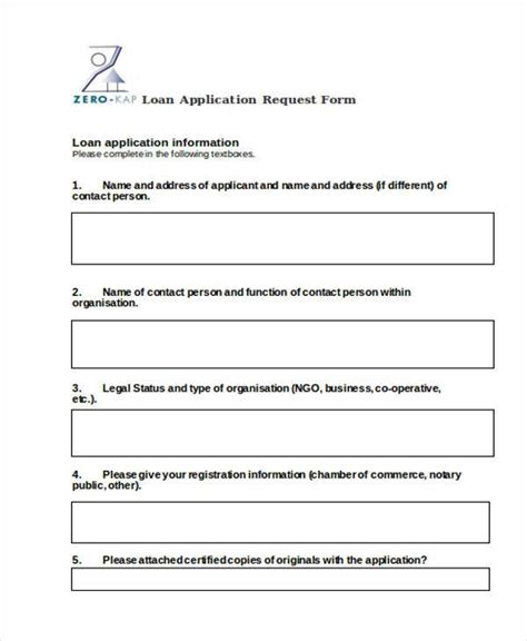 Nab Credit Application Template Application Form In Word