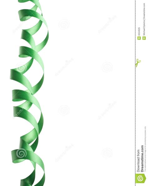 The Tali Ribon Bordier White green ribbon border stock image image of present twirl 6554625