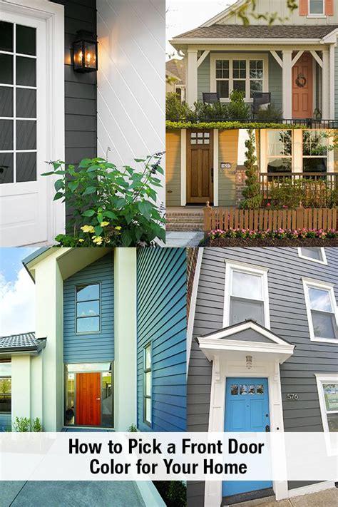 pick  front door color    statement