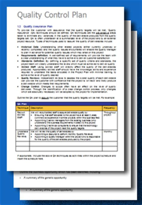 quality plan sle template free project quality plan template toolkitcafe