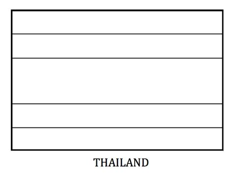 Thailand Flag Coloring Page printable thailand flag coloring page coloringpagebook