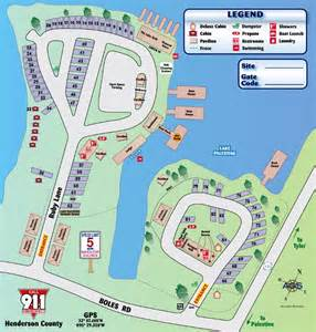 site map lake palestine resort