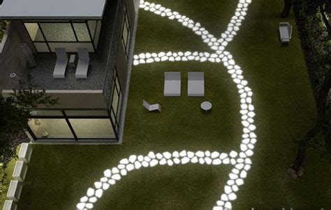 glow in the paint landscaping make your garden glow with solar lights and glow in the
