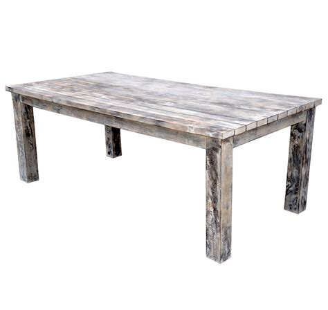 Large White Dining Table Large Oblong Mango Wood Dining Table Rustic White Wash Finish Roudham Trading