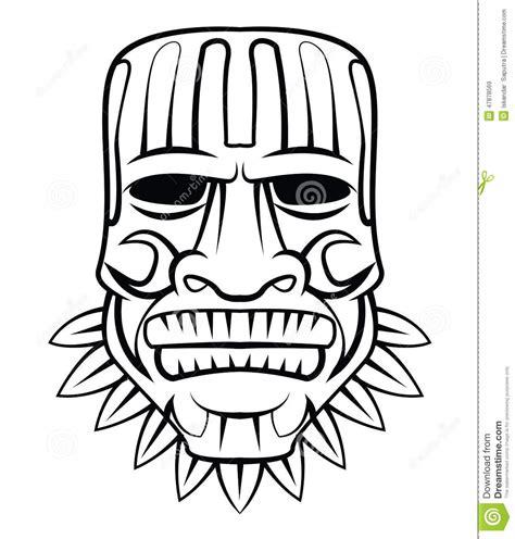 masque de totem illustration de vecteur image 47878569