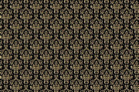 gold pattern on black background damask background gold black free stock photo public