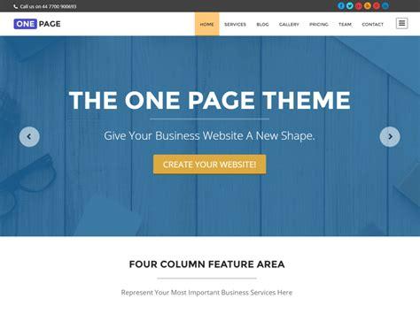 wordpress themes free single page 10 best free responsive wordpress themes inkthemes