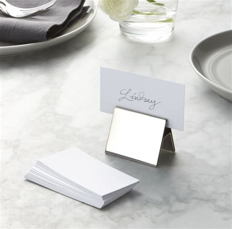 Set of 20 White Place Cards   Crate and Barrel