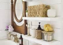 country bathroom with shelves installed above toilet decoist 15 exquisite bathrooms that make use of open storage