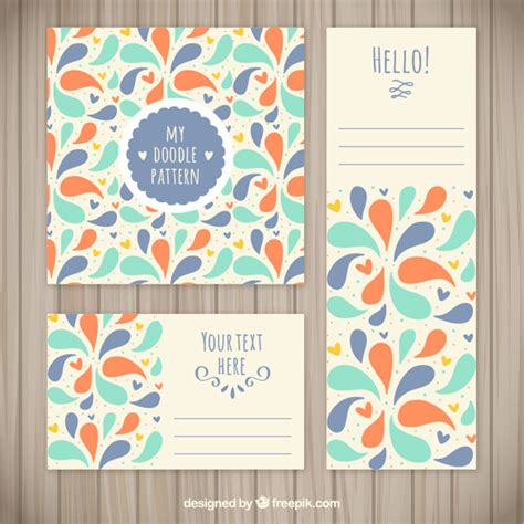 Colorful Doodle Stationery Vector Free