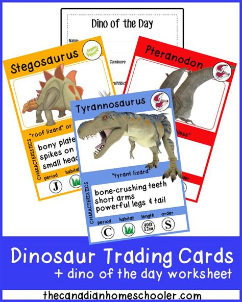 Dinosaur Trading Card Template 18 best images about dinosaurs on montessori