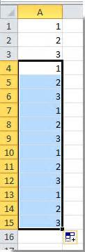 how to fill column with series repeating pattern numbers how to fill column with series repeating pattern numbers