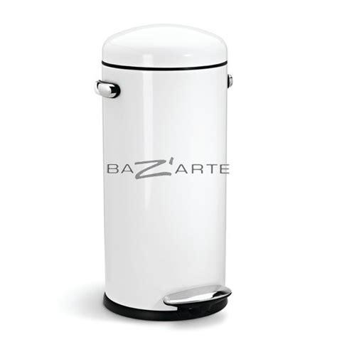 acheter poubelle cuisine acheter poubelle de cuisine 30 litres retro ouverture par p 233 dale blanc par simplehuman