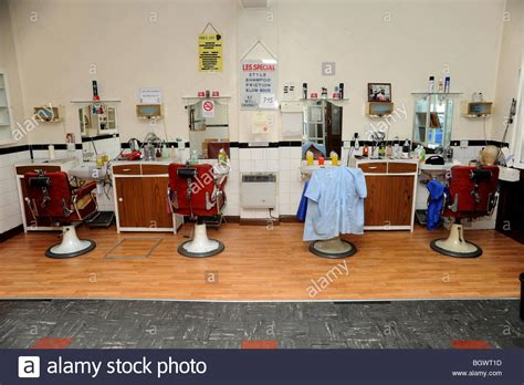 old fashinoned hairdressers and there salon potos an old fashioned mens hair salon stock photo royalty free