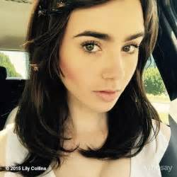 Malm Bed lily collins rocks longer locks after getting hair