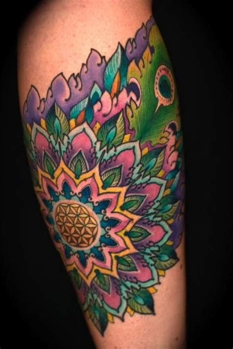 tattoo lotus feather mandala flower tattoo tattoo gathering tattoos