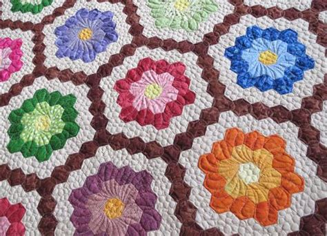 Geta S Quilting Studio A Family Project Gorgeous Grandmother Flower Garden Quilt Pattern