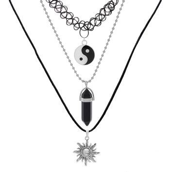 Taoism Sign Ancient Eight Diagrams Pendant Necklace Charms Yin shop wire wrapped jewelry for on wanelo