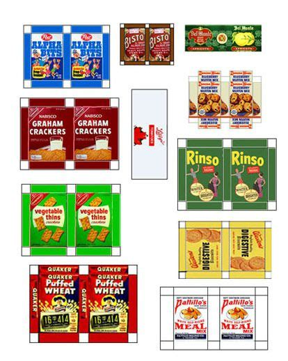 7 Best Images of Boxes Of Food Mini Printables   Dollhouse