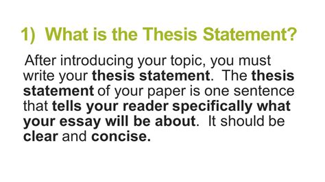 the definition of a thesis statement what is topic sentence and thesis statement 28 images