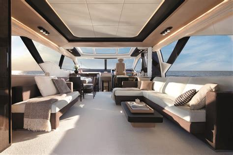 luxury yacht azimut 77s salon closed top luxury